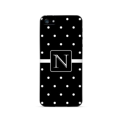 N on Classic Mini Polka Dots - Geeks Designer Line Monogram Series Hard Case for Apple iPhone 5/5S