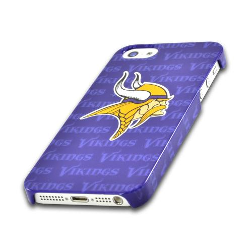 Apple iPhone SE / 5 / 5S Hard Case, NFL Licensed [Minnesota Vikings]  Slim & Protective Crystal Glossy Snap-on Hard Polycarbonate Plastic Case Cover