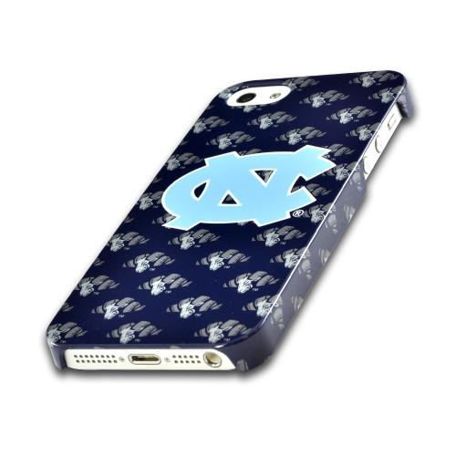 Apple iPhone SE / 5 / 5S Hard Case, NCAA LIcensed [North Carolina Tar Heels]  Slim & Protective Crystal Glossy Snap-on Hard Polycarbonate Plastic Case Cover