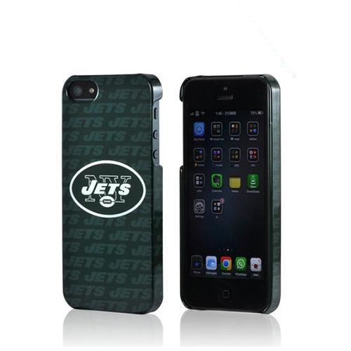 Apple iPhone SE / 5 / 5S Hard Case, NFL Licensed [New York Jets]  Slim & Protective Crystal Glossy Snap-on Hard Polycarbonate Plastic Case Cover