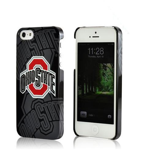 Apple iPhone SE / 5 / 5S Hard Case, NCAA LIcensed [Ohio St. Buckeyes]  Slim & Protective Crystal Glossy Snap-on Hard Polycarbonate Plastic Case Cover