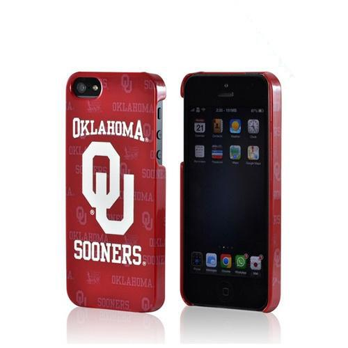 Oklahoma Sooners Hard Case for Apple iPhone 5/5S - NCAA Licensed
