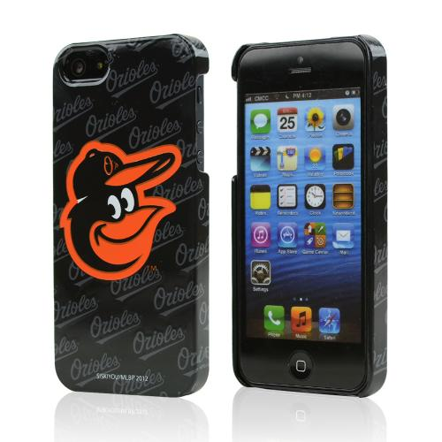 Apple iPhone SE / 5 / 5S Hard Case, MLB Licensed [Baltimore Orioles]  Slim & Protective Crystal Glossy Snap-on Hard Polycarbonate Plastic Case Cover