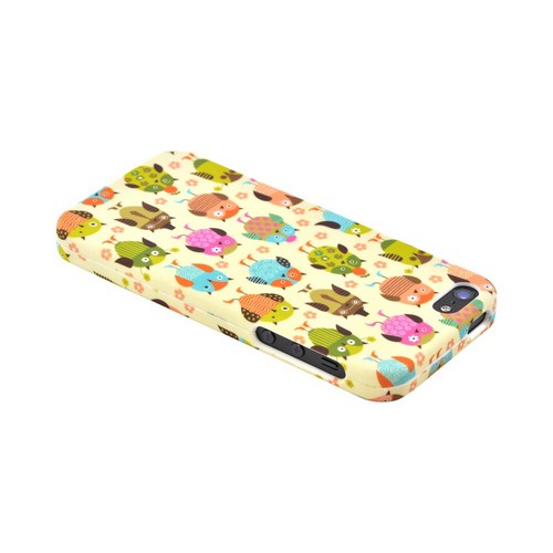 Apple iPhone 5/5S Hard Case - Retro Owls on Cream