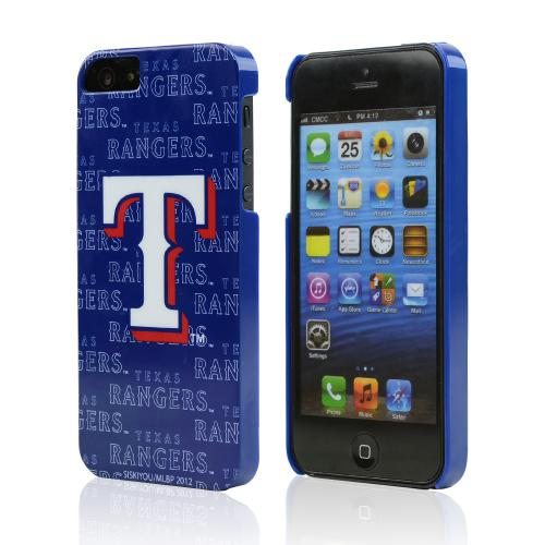 Apple iPhone SE / 5 / 5S Hard Case, MLB Licensed [Texas Rangers]  Slim & Protective Crystal Glossy Snap-on Hard Polycarbonate Plastic Case Cover