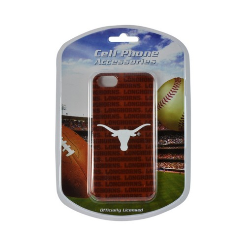 Apple iPhone SE / 5 / 5S Hard Case, NCAA LIcensed [Texas Longhorns]  Slim & Protective Crystal Glossy Snap-on Hard Polycarbonate Plastic Case Cover