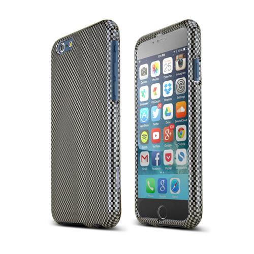 Apple iPhone 6/ 6S Case,  [Carbon Fiber]  Slim & Protective Crystal Glossy Snap-on Hard Polycarbonate Plastic Case Cover