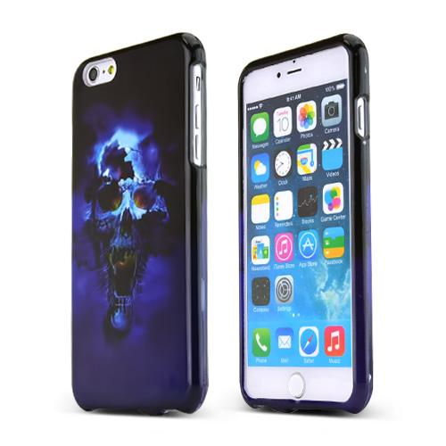 Blue Skull  Hard Case Cover Made for Apple iPhone 6 PLUS/6S PLUS (5.5 inch) ; Perfect fit as Best Coolest Design Plastic Cases