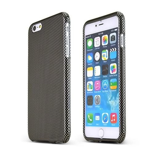 Gray/ Black Carbon Fiber Design Hard Case Cover Made for Apple iPhone 6 PLUS/6S PLUS (5.5 inch) ; Perfect fit as Best Coolest Design Plastic Cases