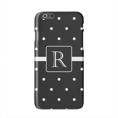 Monogram R on Classic Mini Polka Dots Solid White Hard Case Cover for Apple iPhone 6 PLUS/6S PLUS (5.5 inch)