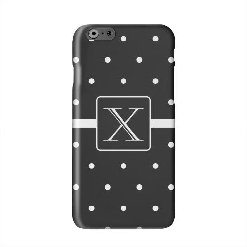 Monogram X on Classic Mini Polka Dots Solid White Hard Case Cover for Apple iPhone 6 PLUS/6S PLUS (5.5 inch)