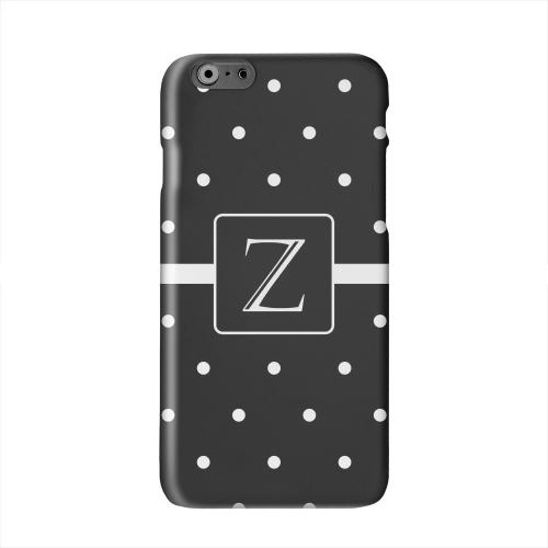 Monogram Z on Classic Mini Polka Dots Solid White Hard Case Cover for Apple iPhone 6 PLUS/6S PLUS (5.5 inch)