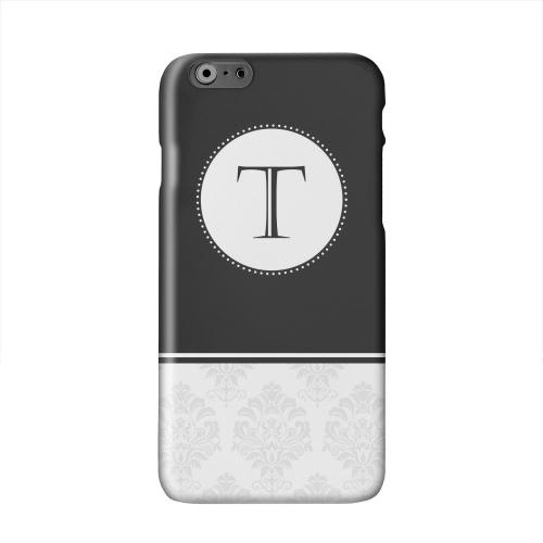 Black Monogram T w/ White Damask Design Solid White Hard Case Cover for Apple iPhone 6 PLUS/6S PLUS (5.5 inch)