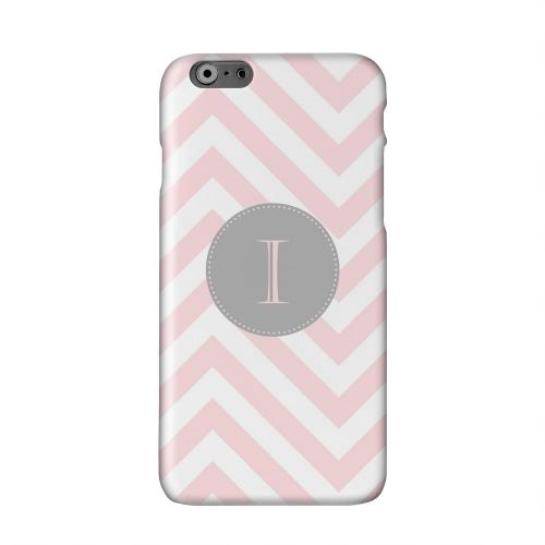 Gray Button Monogram I on Pale Pink Zig Zags Solid White Hard Case Cover for Apple iPhone 6 PLUS/6S PLUS (5.5 inch)