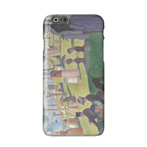 Georges Seurat Sunday Afternoon on the Island of La Grand Jatte Solid White Hard Case Cover for Apple iPhone 6 PLUS/6S PLUS (5.5 inch)