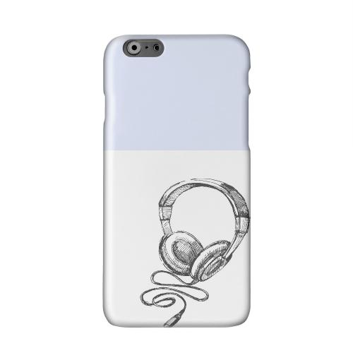 Head Bobbing Faint Blue Solid White Hard Case Cover for Apple iPhone 6 PLUS/6S PLUS (5.5 inch)