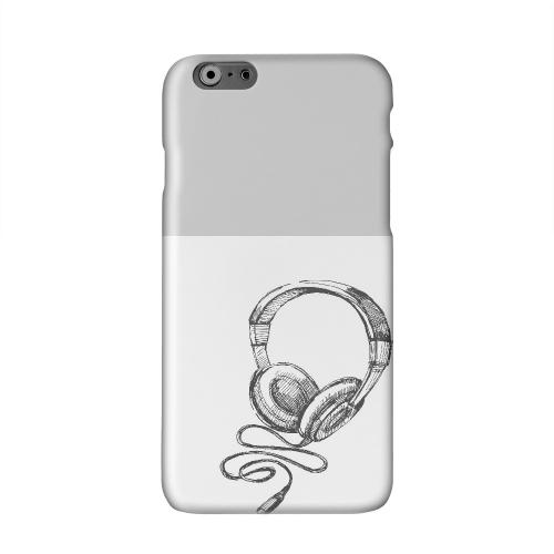 Head Bobbing Gray Solid White Hard Case Cover for Apple iPhone 6 Plus