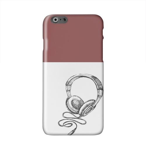 Head Bobbing Maroon Solid White Hard Case Cover for Apple iPhone 6 PLUS/6S PLUS (5.5 inch)