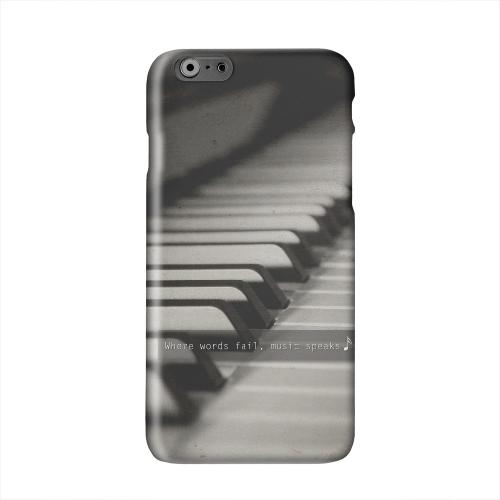 Music Speaks Solid White Hard Case Cover for Apple iPhone 6 PLUS/6S PLUS (5.5 inch)