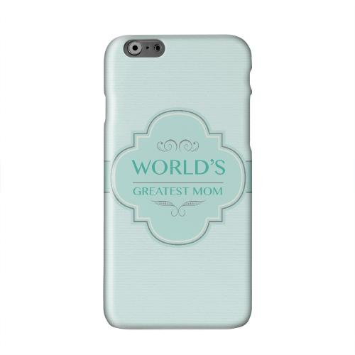 Vintage World's Greatest Mom Solid White Hard Case Cover for Apple iPhone 6 PLUS/6S PLUS (5.5 inch)