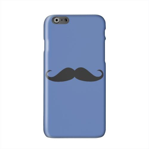 Mustache Blue Solid White Hard Case Cover for Apple iPhone 6 PLUS/6S PLUS (5.5 inch)