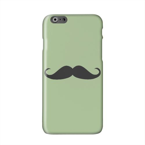 Mustache Greenish Solid White Hard Case Cover for Apple iPhone 6 PLUS/6S PLUS (5.5 inch)