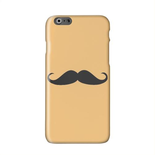 Mustache Orange Solid White Hard Case Cover for Apple iPhone 6 PLUS/6S PLUS (5.5 inch)