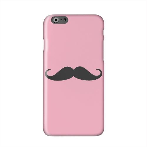 Mustache Pink Solid White Hard Case Cover for Apple iPhone 6 PLUS/6S PLUS (5.5 inch)