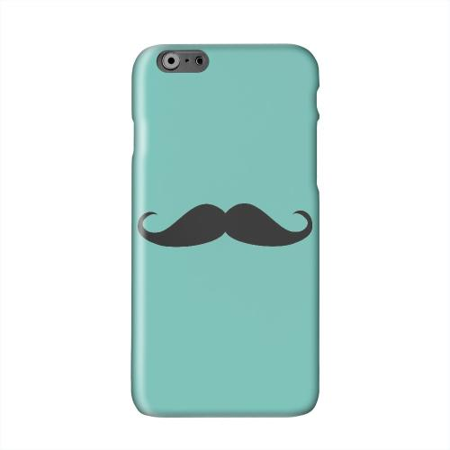 Mustache Teal Solid White Hard Case Cover for Apple iPhone 6 PLUS/6S PLUS (5.5 inch)