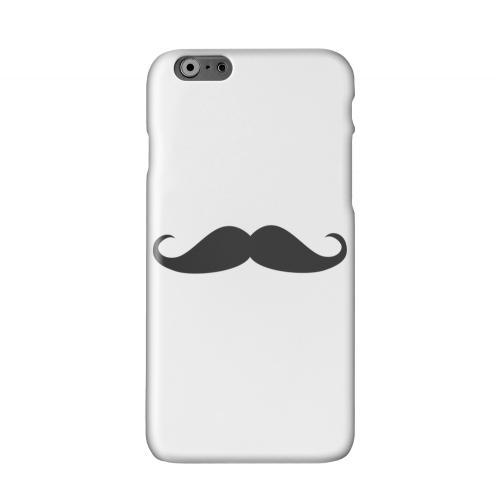 Mustache White Solid White Hard Case Cover for Apple iPhone 6 PLUS/6S PLUS (5.5 inch)