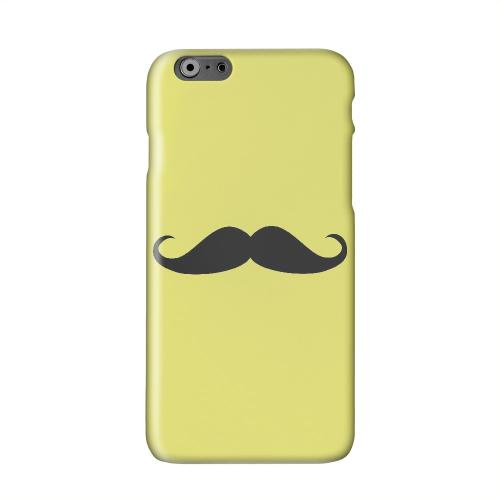 Mustache Yellow Solid White Hard Case Cover for Apple iPhone 6 PLUS/6S PLUS (5.5 inch)