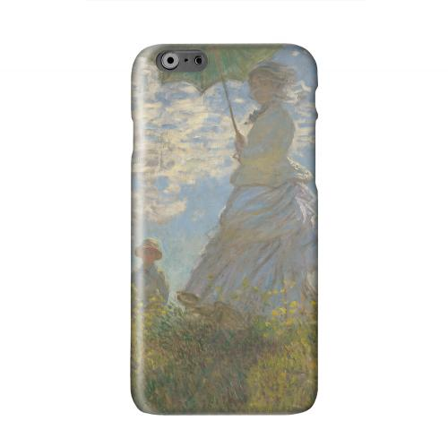 Woman with a Parasol - Madame Monet and Her Son by Claude Monet Solid White Hard Case Cover for Apple iPhone 6 Plus