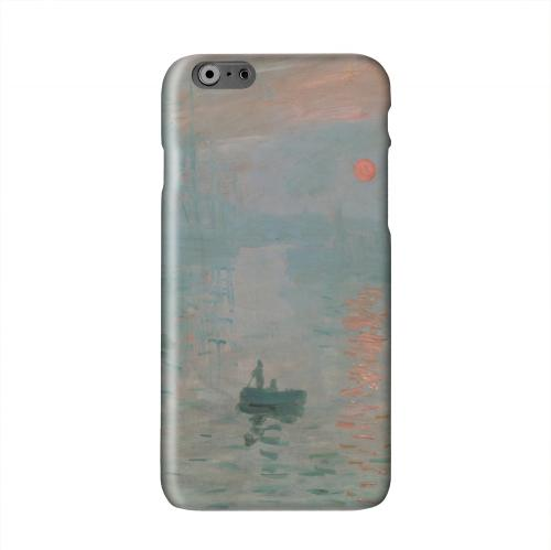 Impression Sunrise by Claude Monet Solid White Hard Case Cover for Apple iPhone 6 Plus