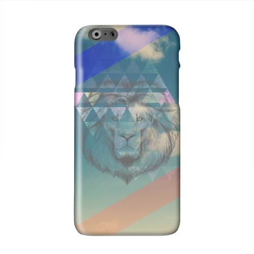 Majestic Lion in the Sky Solid White Hard Case Cover for Apple iPhone 6 PLUS/6S PLUS (5.5 inch)