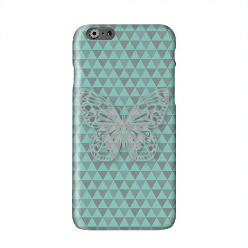 Butterfly Crypsis Solid White Hard Case Cover for Apple iPhone 6 Plus