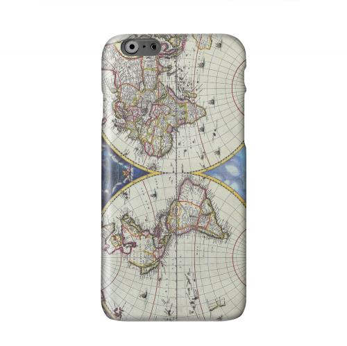 Terrarum Orbis Tabula Pictomap Solid White Hard Case Cover for Apple iPhone 6 Plus