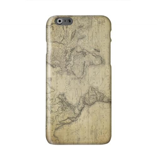 Vintage World Map Circa 1800's Solid White Hard Case Cover for Apple iPhone 6 PLUS/6S PLUS (5.5 inch)