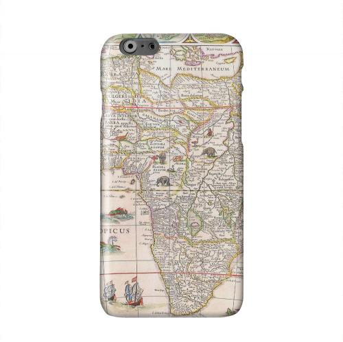 Map of Africae Solid White Hard Case Cover for Apple iPhone 6 PLUS/6S PLUS (5.5 inch)