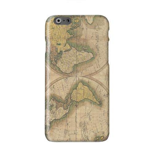 Map of the World Circa 1770's Solid White Hard Case Cover for Apple iPhone 6 PLUS/6S PLUS (5.5 inch)