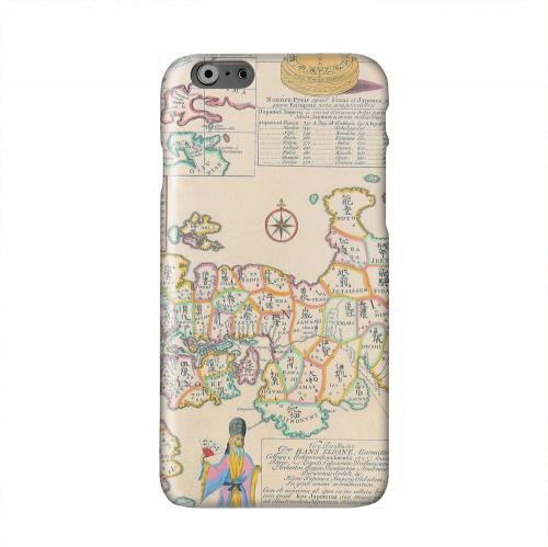 Old Japanese Empire Map Solid White Hard Case Cover for Apple iPhone 6 PLUS/6S PLUS (5.5 inch)
