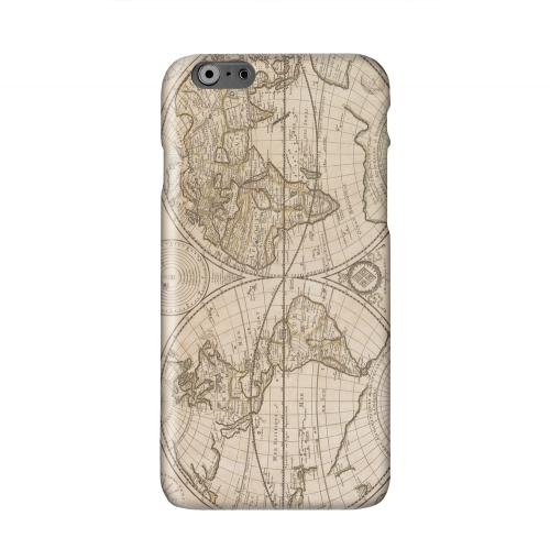 Carte Generale du Monde 1676 Solid White Hard Case Cover for Apple iPhone 6 Plus