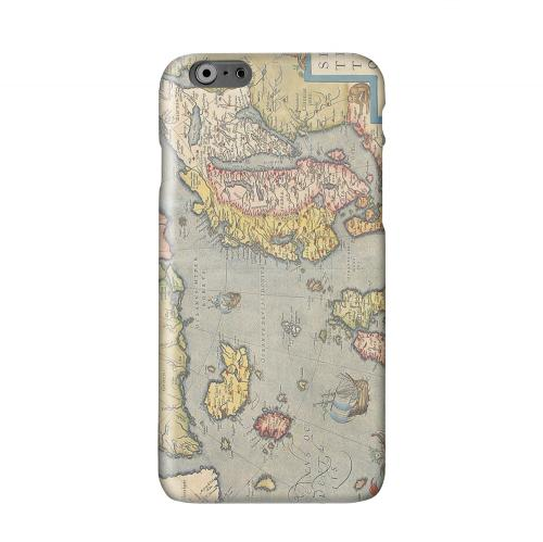 Ancient Map of Europe Solid White Hard Case Cover for Apple iPhone 6 PLUS/6S PLUS (5.5 inch)