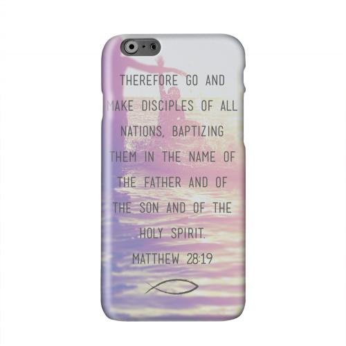 Matthew 28:19 Solid White Hard Case Cover for Apple iPhone 6 PLUS/6S PLUS (5.5 inch)