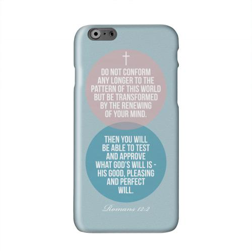Romans 12:2 Solid White Hard Case Cover for Apple iPhone 6 Plus