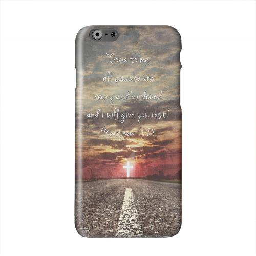 Matthew 11:28 Solid White Hard Case Cover for Apple iPhone 6 PLUS/6S PLUS (5.5 inch)