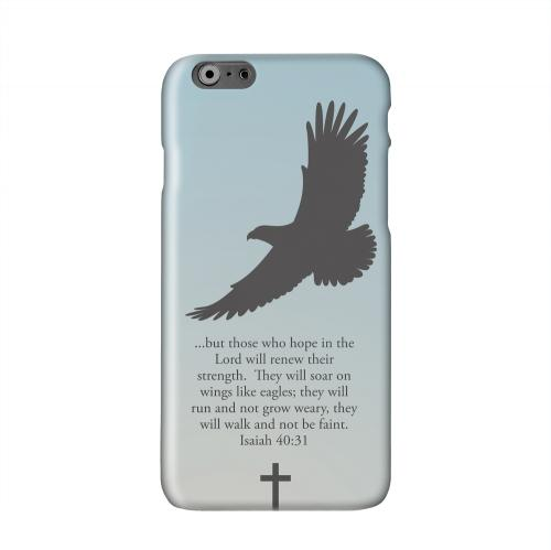 Isaiah 40:31 - Faint Blue Solid White Hard Case Cover for Apple iPhone 6 Plus