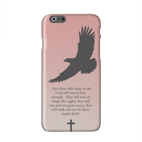 Isaiah 40:31 - Wisp Pink Solid White Hard Case Cover for Apple iPhone 6 PLUS/6S PLUS (5.5 inch)