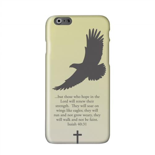 Isaiah 40:31 - Sunset Yellow Solid White Hard Case Cover for Apple iPhone 6 PLUS/6S PLUS (5.5 inch)