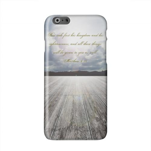 Matthew 6:33 Solid White Hard Case Cover for Apple iPhone 6 PLUS/6S PLUS (5.5 inch)