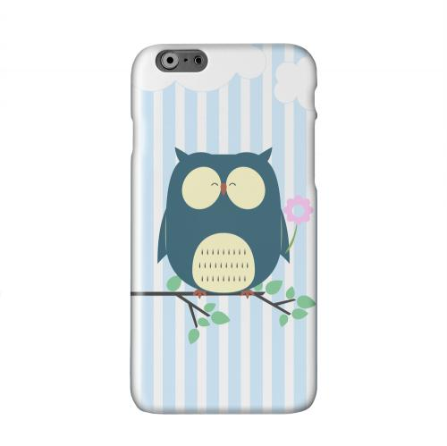Fat Peaceful Owl on Tree Branch Solid White Hard Case Cover for Apple iPhone 6 PLUS/6S PLUS (5.5 inch)